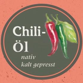 Chili Kräuteröl von der Ölmühle Garting aus Bayern