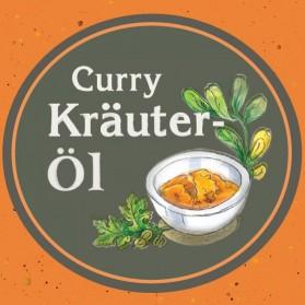 Curry Kräuteröl von der Ölmühle Garting aus Bayern