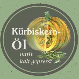 Kürbiskernöl, kaltgepresst und naturrein