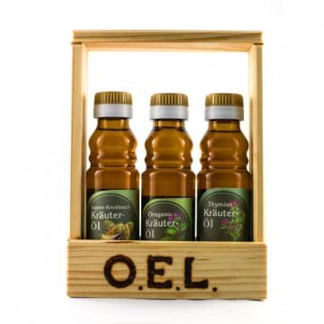 Ingwer-Knoblauchöl, Thymianöl, Oreganoöl - Geschenkset