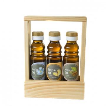 Leinöl, Rapsöl, Walnussöl - Geschenkset