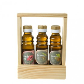 Geschenkset Freund: Mohnöl, Sesamöl, Walnussöl