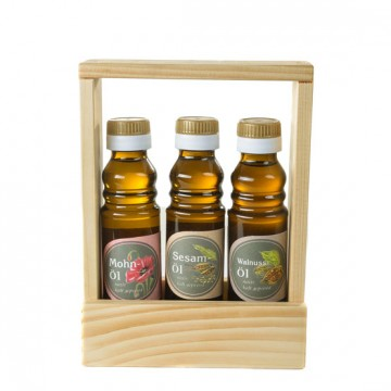 Mohnöl, Sesamöl, Walnussöl - Geschenkset