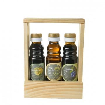 Kürbiskernöl, Senföl, Traubenkernöl - Geschenkeset