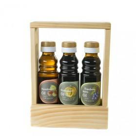 Haselnussöl, Kürbiskernöl, Traubenkernöl - Geschenkset