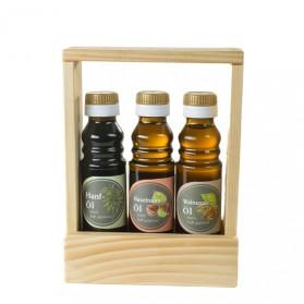 Hanföl, Haselnussöl, Walnussöl - Geschenkset