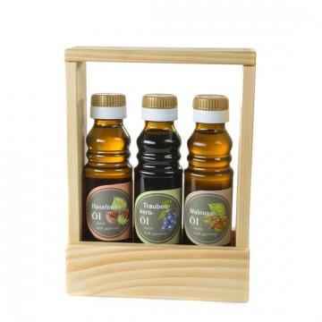 Haselnussöl, Traubenkernöl, Walnussöl - Geschenkset
