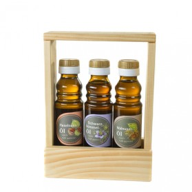 Haselnussöl, Schwarzkümmelöl, Walnussöl - Geschenkset