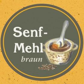 Senfmehl braun der Ölmühle Garting in Bayern