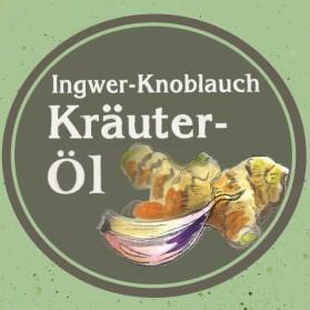 Knoblauch-Ingwer Kräuteröl von der Ölmühle Garting aus Bayern