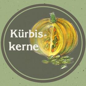 Naturbelassene Kürbiskerne, regional angebaut