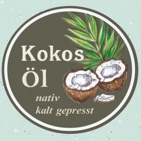 Kokosöl, kaltgepresst und natürlich
