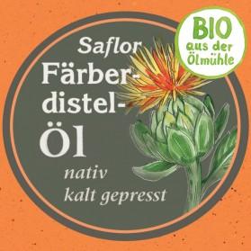 Färberdistelöl, kaltgepresst und Bio