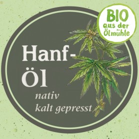 Hanföl Bio, natürlich und exquisit
