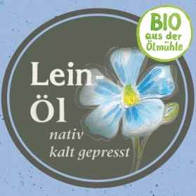 Leinöl Bio-Qualität, nativ und mild-nussig
