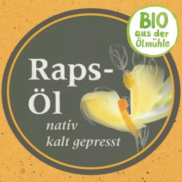 Rapsöl Bio von der Ölmühle Garting aus Bayern