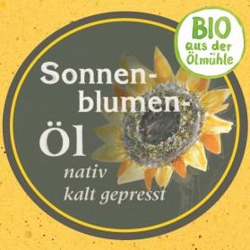 Sonnenblumenöl Bio von der Ölmühle Garting aus Bayern