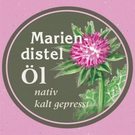 Mariendistelöl, kaltgepresst und nativ